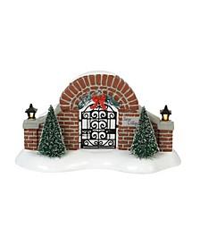 Snow Village Gate Figurines