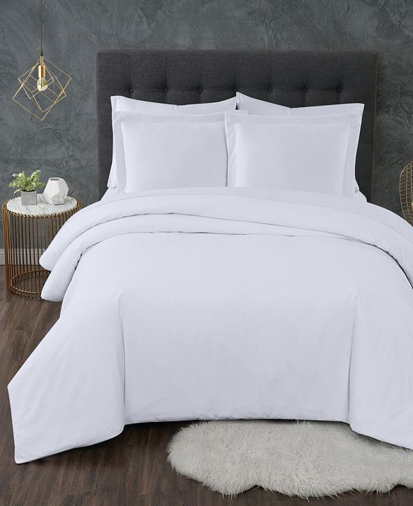 Truly Calm Antimicrobial 3 Piece Duvet Set, Full/Queen