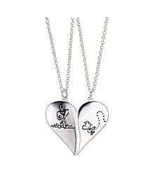 "Fine Silver Plated ""Snoopy"" and ""Woodstock"" Best Friends Pendant Necklace Set, 16""+2"" for Unwritten"