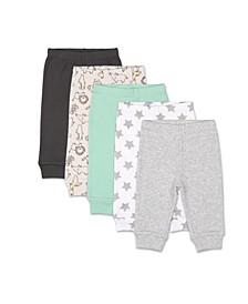 Baby Boys and Girls Safari 5 Pack Pants