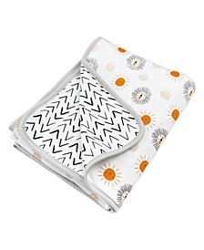 Sunny Lion Print Receiving Blanket
