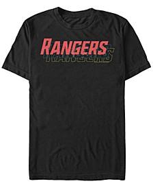 Men's Power Rangers Stacked Text Short Sleeve T-Shirt