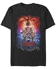 Men's Stranger Things Demogorgan Group Poster Short Sleeve T-Shirt