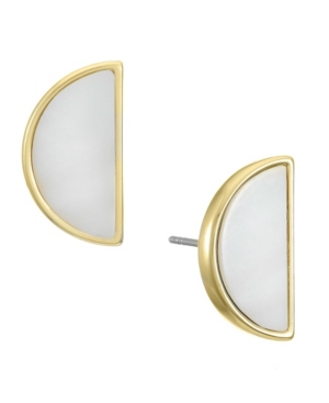 Delicate and refined, these Mother of Pearl earrings have a natural elements inlay.