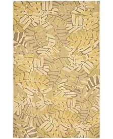 Palm Leaf MSR4548C Gold 5' x 8' Area Rug
