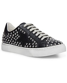 Women's Riled Studded Lace-up Sneakers