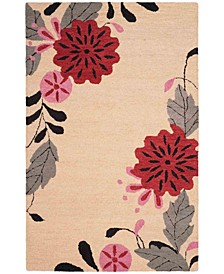 Picture Block Floral MSR4871A Ivory 8' x 10' Area Rug