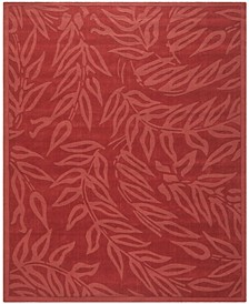 Breeze MSR4621B Burgundy 9' x 12' Area Rug