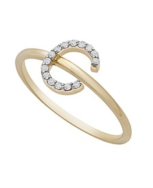 Diamond Initial Ring (1/10 ct. t.w.) in 14k Gold
