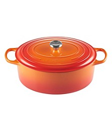 9.5-Qt. Signature Enameled Cast Iron Oval Dutch Oven