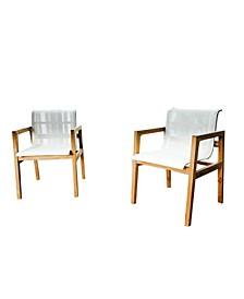 Catalina Teak Outdoor Breeze Chair, Set of 2