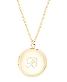 14K Gold Plated Isla Initial Long Locket Necklace