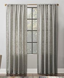 """Wallis 52"""" x 84"""" Textured Linen Blend Sheer Curtain Panel"""