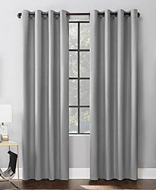 "Mateo 52"" x 84"" Embossed Geometric Blackout Curtain Panel"