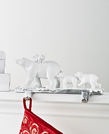 Holiday Chalet You Stay,  Polar Bear Family Stocking Holder, Created for Macy's