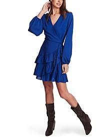 Ruffled Wrap Mini Dress