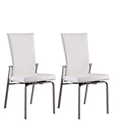 Molly Motion-Back Leather Upholstered Side Chair, Set of 2
