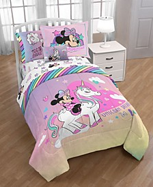 Minnie Bowtique 'Unicorn Dreams' 6pc Twin bed in a bag