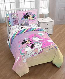 Minnie Bowtique 'Unicorn Dreams' 6pc Twin bed in a bag