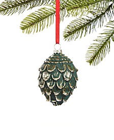 Birds & Boughs Molded Glass Pine Ornament, Created for Macy's