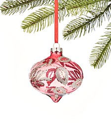 Burgundy & Blush Colored Glass Onion Ornament, Created for Macy's