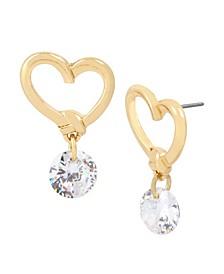 Heart Stone Drop Earrings