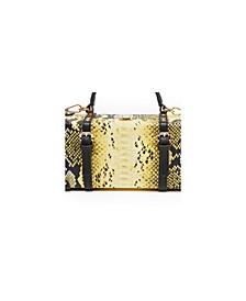 Snakeskin Treasure Tote Box Bag