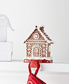 Christmas Cheer Gingerbread House Stocking Holder, Created for Macy's
