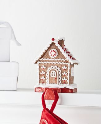 Christmas Cheer Gingerbread House Stocking Holder