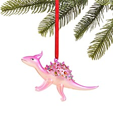 Merry & Brightest Molded Glass Dinosaur Ornament, Created for Macy's