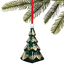 Evergreen Dreams Molded Glass Christmas Tree Ornament, Created for Macy's
