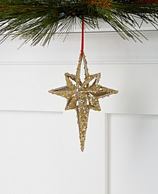 Renaissance Gold-Tone Glittered Star Ornament, Created for Macy's