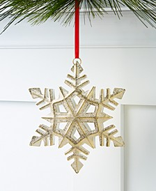 Shine Bright Gold Snowflake Ornament, Created for Macy's