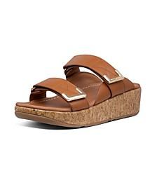 Women's Remi Adjustable Leather Slides Sandal