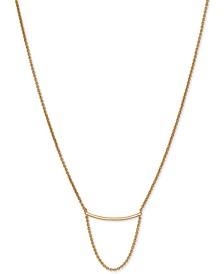 "Gold-Tone Bar Strand Necklace, 18"" + 2"" extender"