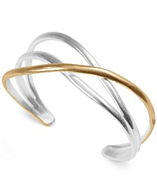 Two-Tone Twisted Cuff Bracelet