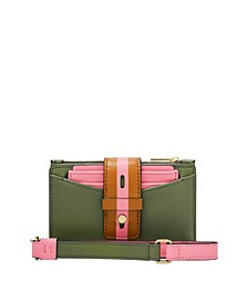 Women's Willa Small Tab Bubblegum Color-Block Leather Wallet