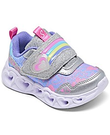 Toddler Girl's Rainbow Strap Light-Up Stay-Put Closure Running Sneakers from Finish Line
