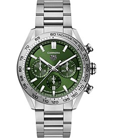 Men's Swiss Automatic Chonograph Carrera Heuer 02 Stainless Steel Bracelet Watch 44mm