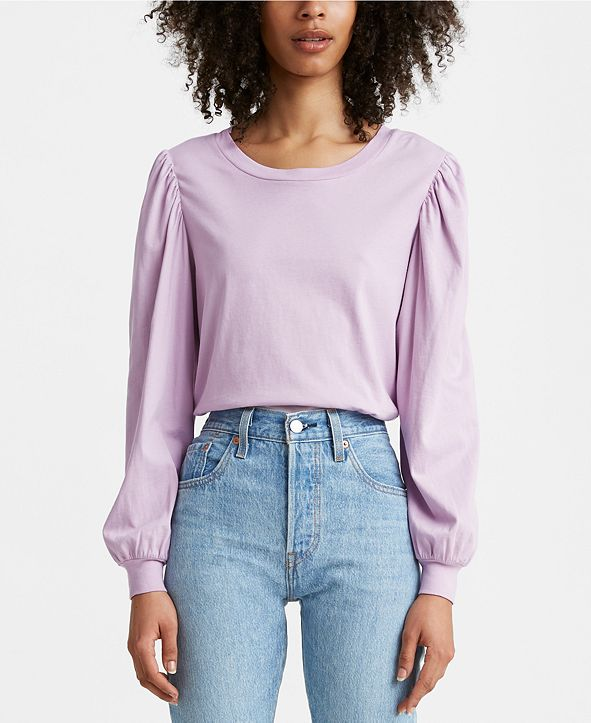 Levi's Flora Cotton Puff-Sleeve Top