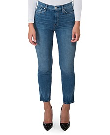 Barbara Straight-Leg Ankle High-Rise Jeans
