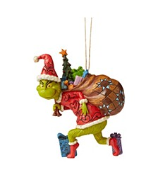 Tiptoeing Grinch Ornament