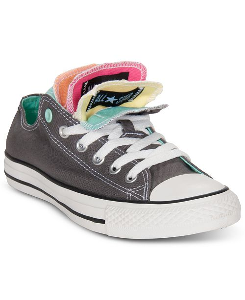6c65b1fb09b ... Converse Women's Chuck Taylor Ox Multiple Tongue Casual Sneakers from  Finish ...