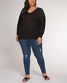 Plus Size Drop-Shoulder Sweater