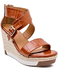 Irma Platform Lug Sole Wedge Sandals