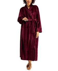 Petite Long Dimple-Striped Robe, Created for Macy's