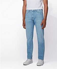 BOSS Men's Regular-Fit Jeans in Bright Blue Denim