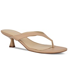 Wylda Kitten-Heel Thong Sandals