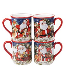 Magic of Christmas Santa 4 Piece Mug