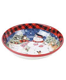 Magic of Christmas Snowman Serving Bowl